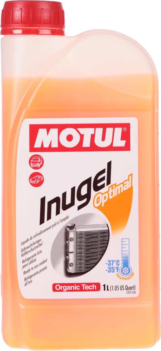 Антифриз Motul Inugel Optimal, цвет: флуоресцентный оранжевый, 1 л антифриз motul inugel optimal флуоресцентный цвет оранжевый 5 л