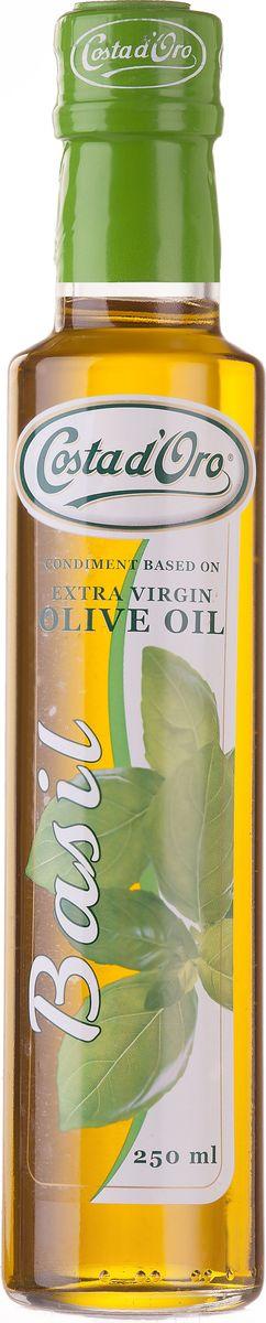 Costa d'Oro Extra Vergine масло оливковое нерафинированное со вкусом и ароматом базилика, 250 мл цены
