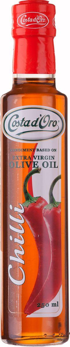 Costa d'Oro Extra Vergine масло оливковое нерафинированное со вкусом и ароматом перца чили, 250 мл цены