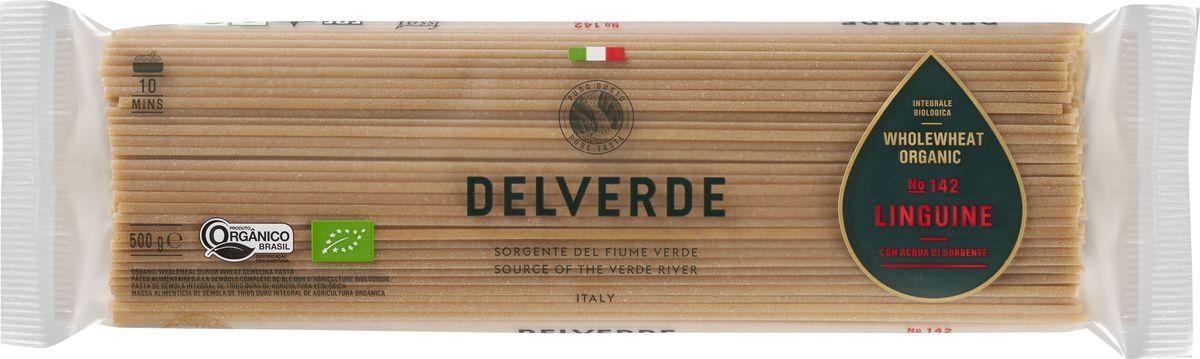 Delverde № 142 паста Лингуини Биолоджика с отрубями, 500 г