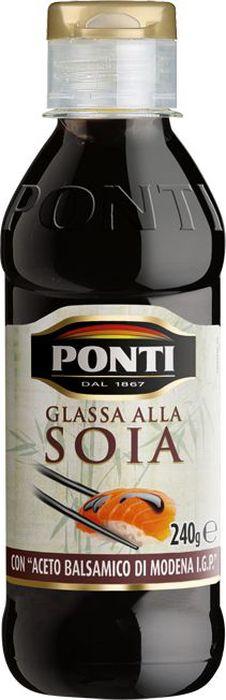 Ponti Топпинг соевый Glassa alla soia на основе бальзамического уксуса Di Modena, 250 мл ponti топпинг соевый glassa alla soia на основе бальзамического уксуса di modena 250 мл