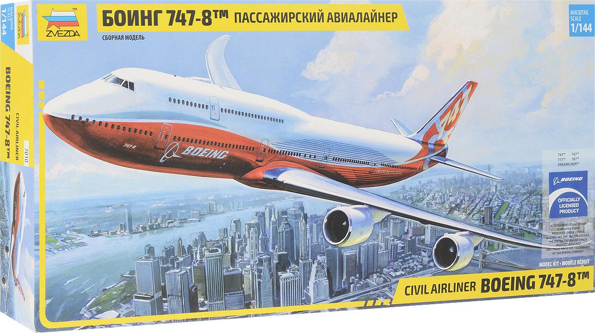 Звезда Сборная модель Пассажирский авиалайнер Боинг 747-8 сборная модель пассажирского самолета revell boeing 747 8