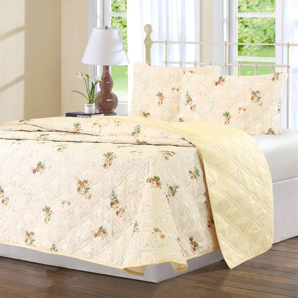 Комплект для спальни Karna Modalin. Avasin: покрывало 220 х 240 см, 2 наволочки 50x70 цвет: бежевый