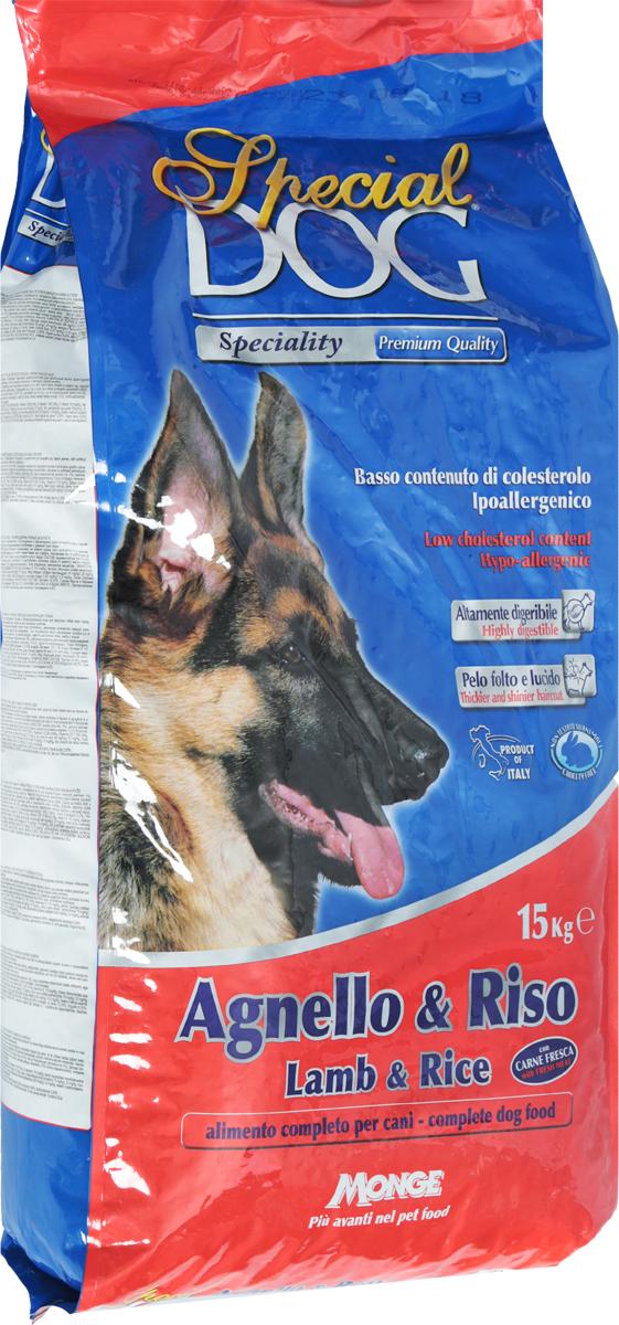"""Корм сухой Monge """"Special Dog"""" для собак с чувствительной кожей и пищеварением, с ягненком и рисом, 15 кг"""
