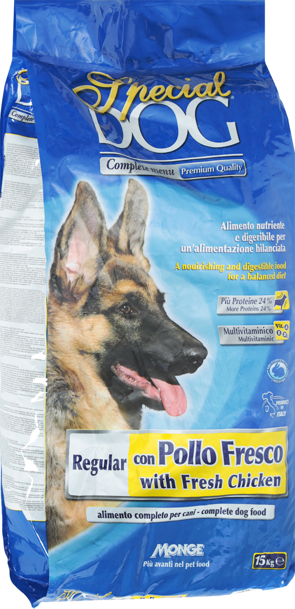 "Корм сухой Monge ""Special Dog"" для собак, со свежей курицей, 15 кг"