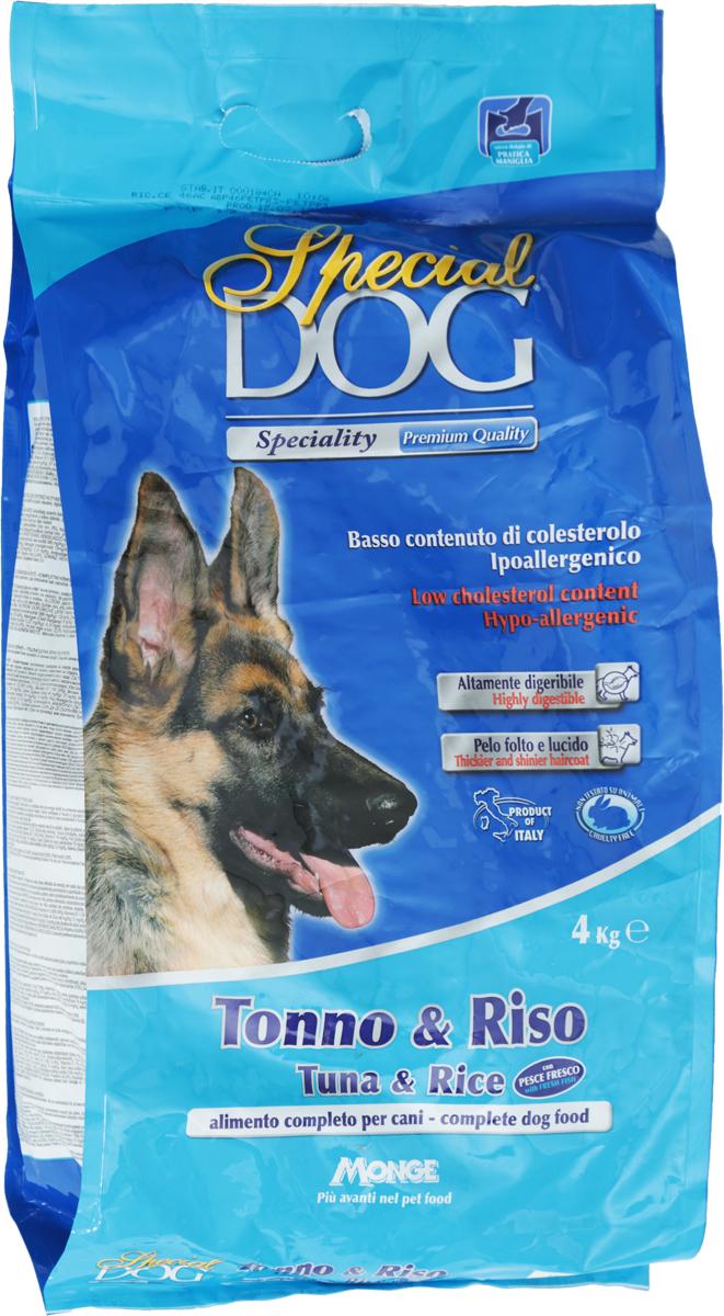 """Корм сухой Monge """"Special Dog"""" для собак с чувствительной кожей и пищеварением, с тунцом и рисом, 4 кг"""