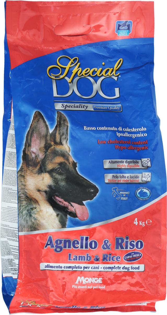 """Корм сухой Monge """"Special Dog"""" для собак с чувствительной кожей и пищеварением, с ягненком и рисом, 4 кг"""