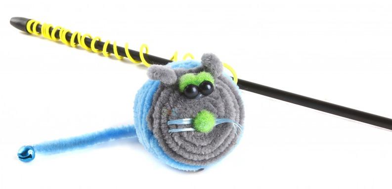 Игрушка-дразнилка для кошек GLG Мышарик, длина 60 см игрушка дразнилка для кошек glg боа с бубенчиками цвет зеленый длина 60 см