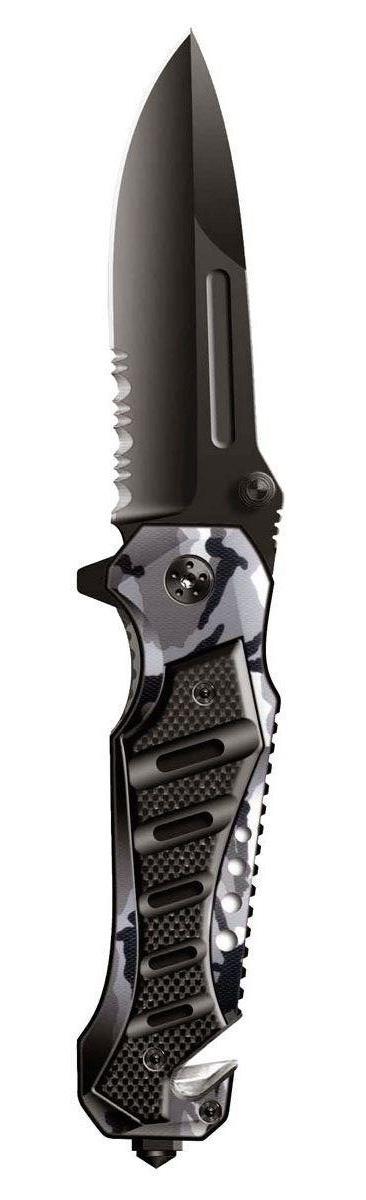 Нож складной Stinger SA-582DW, цвет: черный, камуфляж, 9 см stinger sa 582dw