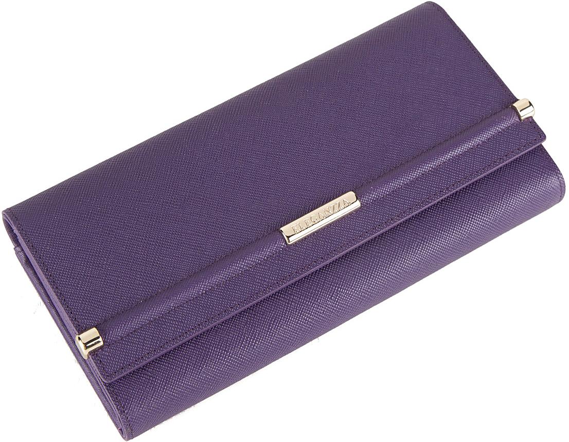 Кошелек женский Eleganzza, цвет: фиолетовый. Z5022-2583 платок женский eleganzza цвет светло серый d34 1219 19 размер 110 х 110 см