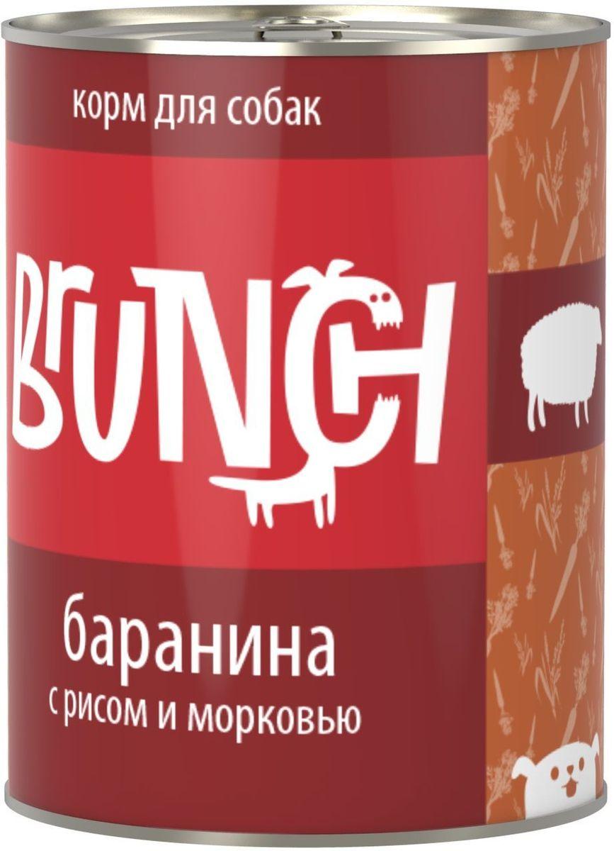 """Консервы для собак """"Brunch"""", баранина с рисом и морковью, 850 г"""
