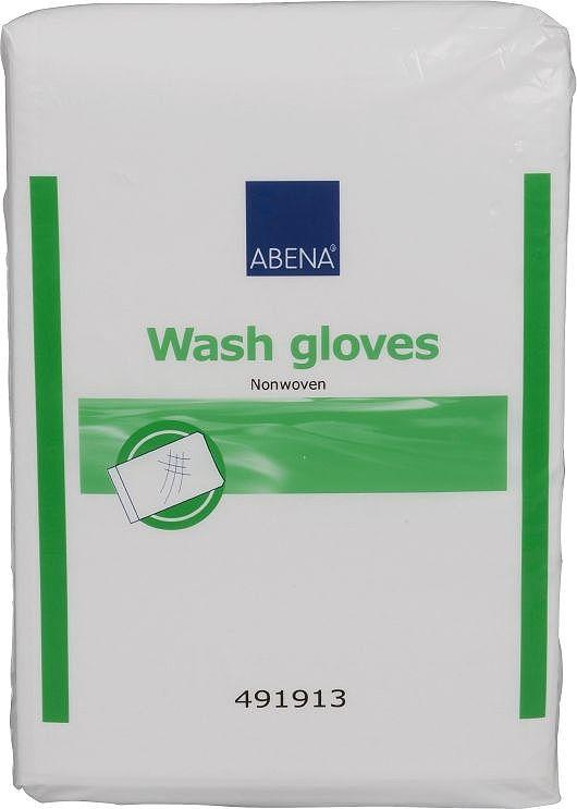 Abena Рукавицы одноразовые для мытья из нетканого материала, 16 х 23 см, 50 шт абена abena абри фикс super белье фиксирующее xl 3шт