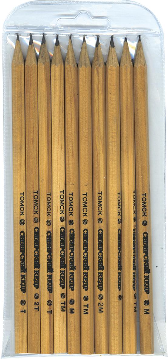 СКФ Набор чернографитных карандашей Сибирский кедр 10 шт скф набор чернографитных карандашей сибирский кедр 6 шт