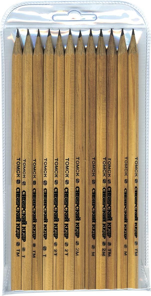 СКФ Набор чернографитных карандашей Сибирский кедр 12 шт скф набор чернографитных карандашей сибирский кедр 6 шт