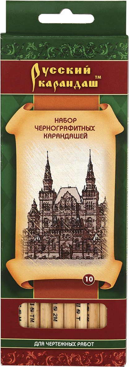 СКФ Набор чернографитных карандашей Русский карандаш 10 шт карандаш f это какой твердости