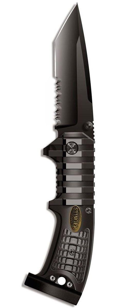 Нож складной Stinger SA-583B, цвет: черный, 9 см stinger sa 582dw