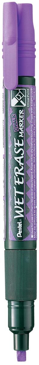 Pentel Маркер меловой Wet Erase Marke двусторонний цвет фиолетовый маркер pentel wet erase жидкий мел черный двусторонний пишущий узел 2 4мм