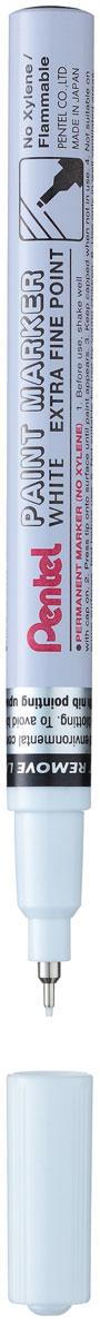 Pentel Маркер перманентный Paint Marker Extra Fine цвет белыйPMFP10-WБыстросохнущий маркер-краска Pentel Paint Marker Extra Fine с плотной текстурой надписи подходит для письма на резине, металле, стекле, пластике. Изделие предназначено для декорирования различных предметов.Маркер имеет металлический противоударный корпус и тонкий игловидный наконечник.Толщина линии: 0,6 мм. Рекомендуем!