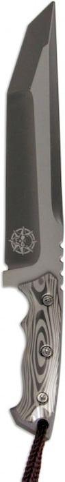 Брелок-стальной нож Ножемир, с чехлом, общая длина 16 см. E-209