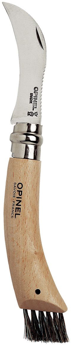 Нож Opinel для грибников n°8 нержавеющая сталь, с щеточкой 001250 нож opinel gardening для грибников с щеточкой