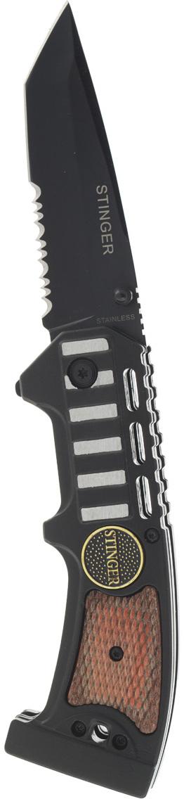 Нож складной Stinger SA-583W, цвет: черный, 9 см stinger sa 582dw