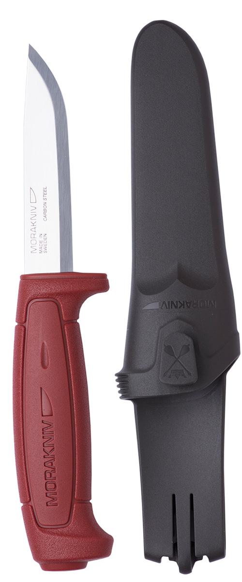Нож туристический Morakniv Basic 511, цвет: красный, стальной, длина лезвия 9,1 см