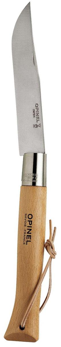 Нож Opinel le Geant n°13 нержавеющая сталь, с темляком 122136 нож opinel colored tradition n°8 нержавеющая сталь рукоять красная с темляком 001705