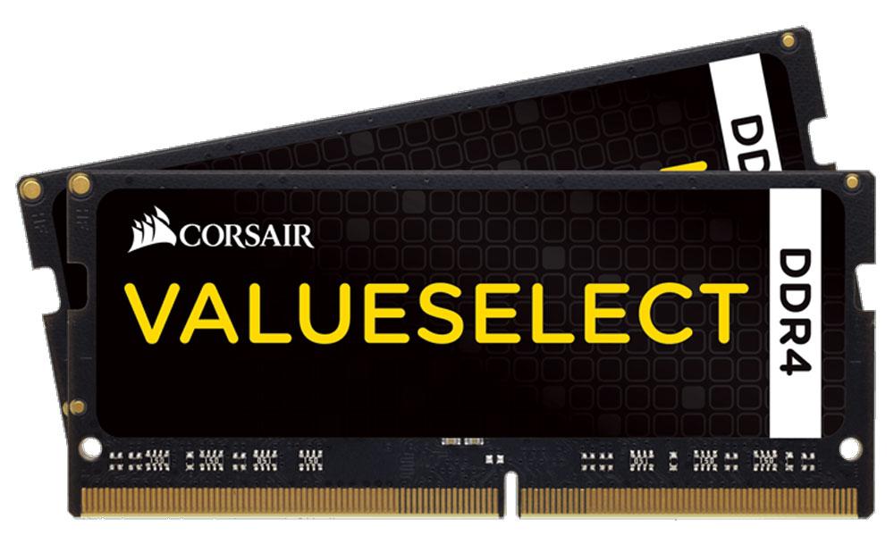 Комплект модулей оперативной памяти Corsair ValueSelect SO-DIMM DDR4 2x4Gb 2133 МГц (CMSO8GX4M2A2133C15)