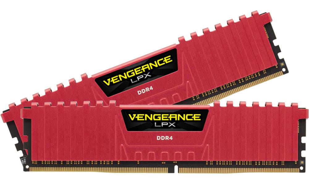 Комплект модулей оперативной памяти Corsair Vengeance LPX DDR4 2x4Gb 2400 МГц, Red (CMK8GX4M2A2400C14R)