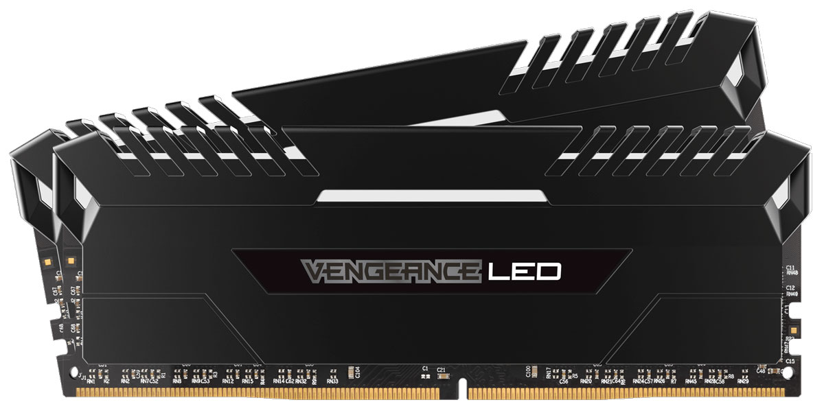 Комплект модулей оперативной памяти Corsair Vengeance LED DDR4 2x8Gb 2666 МГц (CMU16GX4M2A2666C16)