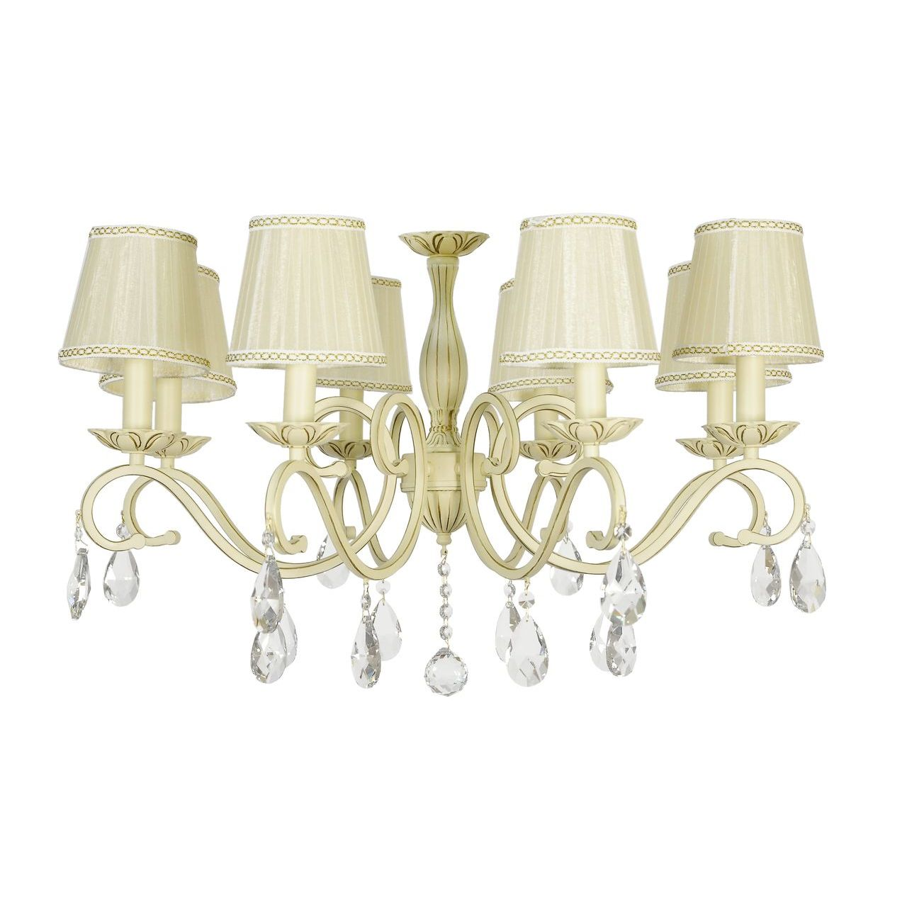 Потолочный светильник Lucia Tucci Bari 370.8 Cream White, E14, 320 Вт потолочная люстра lucia tucci bari 370 8 cream white