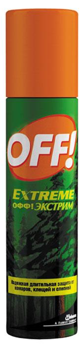 Спрей от комаров и клещей OFF! Экстрим, 100 мл средства от насекомых bugstop браслет от комаров kids 2