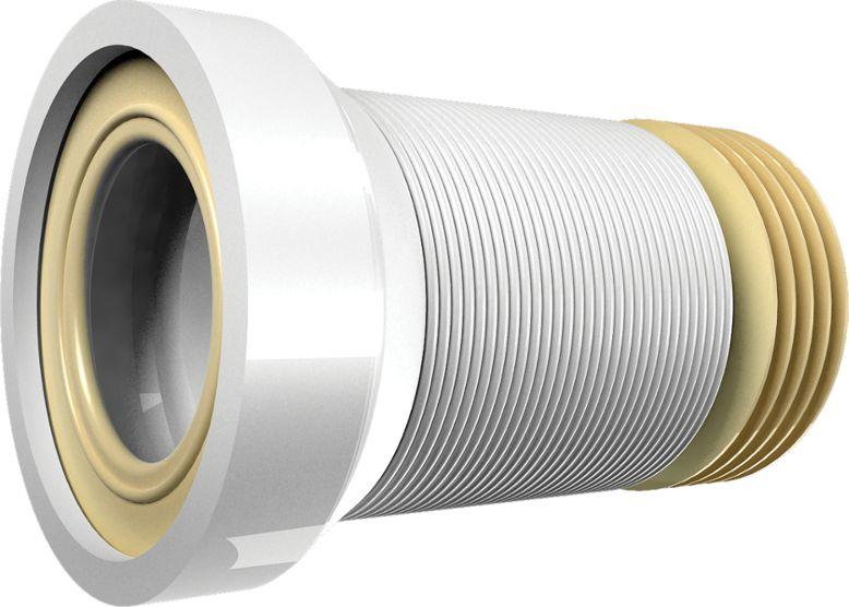 Слив тонкостенный (гофра) для унитаза Unicorn, армированный, 550 мм. T550 гофра для унитаза