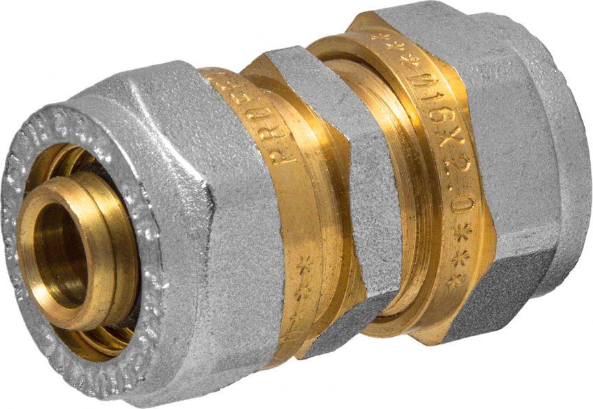Соединитель RVC, ц/ц, 16 х 16 мм евроконус 16 обж ц х 1 2 внутр г для металлопластиковых труб