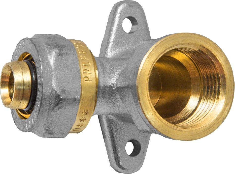 Угольник-водорозетка RVC, с креплением, ц/г, внутренняя резьба 20 х 1/2 евроконус 16 обж ц х 1 2 внутр г для металлопластиковых труб