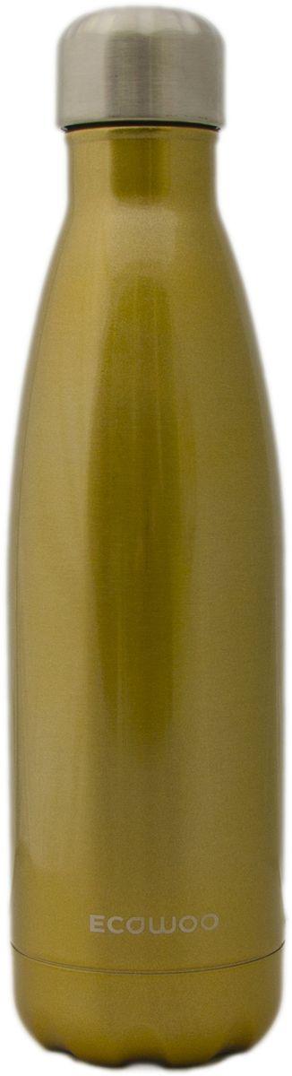 Бутылка-термос EcoWoo, цвет: золотистый, 500 мл ecowoo