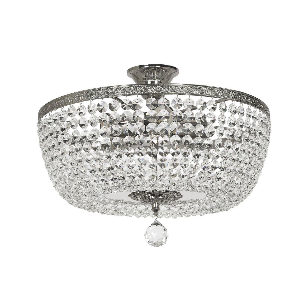 Потолочный светильник Lucia Tucci Cristallo 753.5 Silver потолочный светодиодный светильник lucia tucci grappolo 1801 6 silver