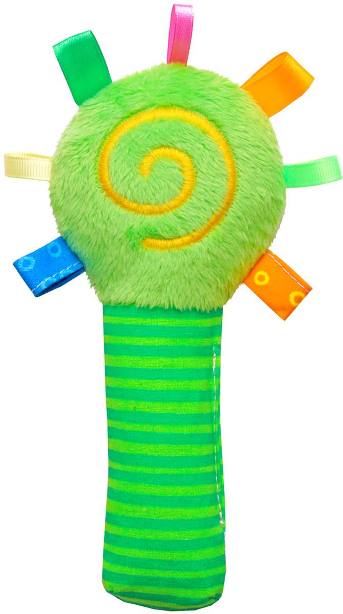 Мякиши Мягкая игрушка-погремушка ШуМякиши Маракас цвет зеленый