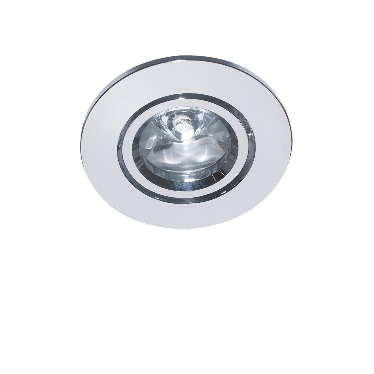 Встраиваемый светильник Lightstar, LED, 1 Вт встраиваемый светильник lightstar led 6 вт