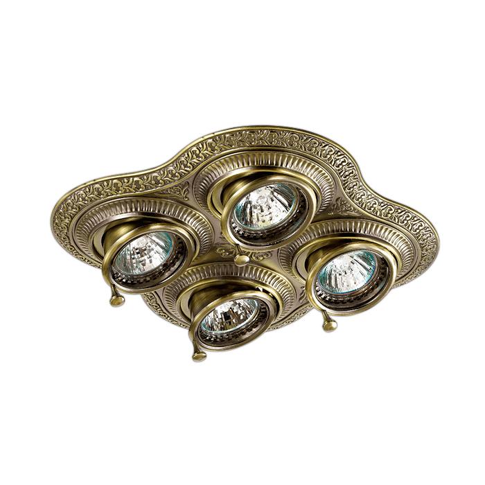 Встраиваемый светильник Novotech Vintage 060 370178 встраиваемый светильник novotech vintage 060 370178