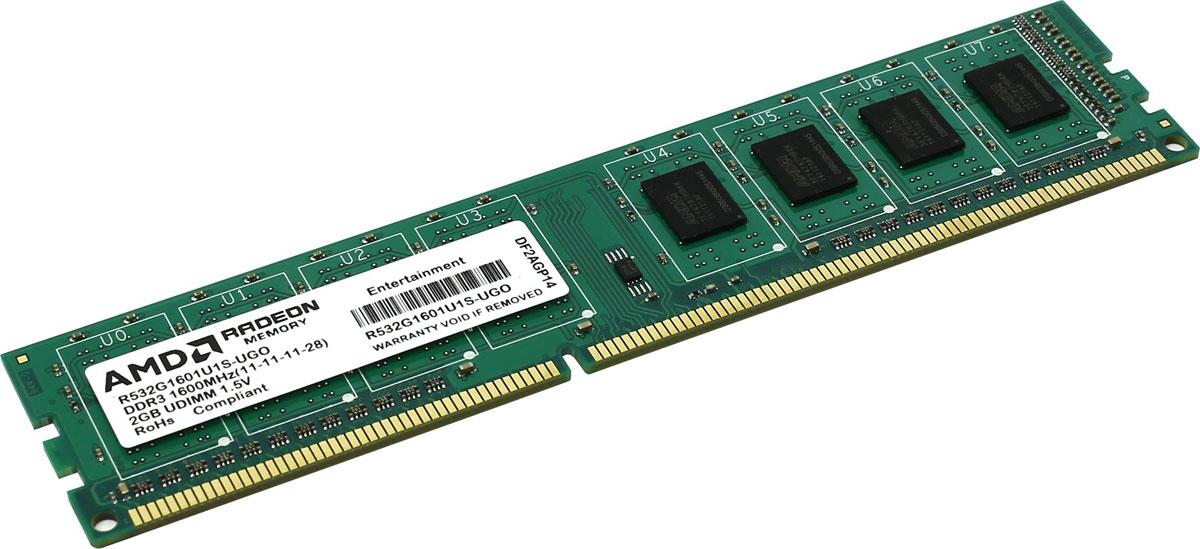 Модуль оперативной памяти AMD Radeon DDR3 2GB 1600MHz (R532G1601U1S-UGO) все цены