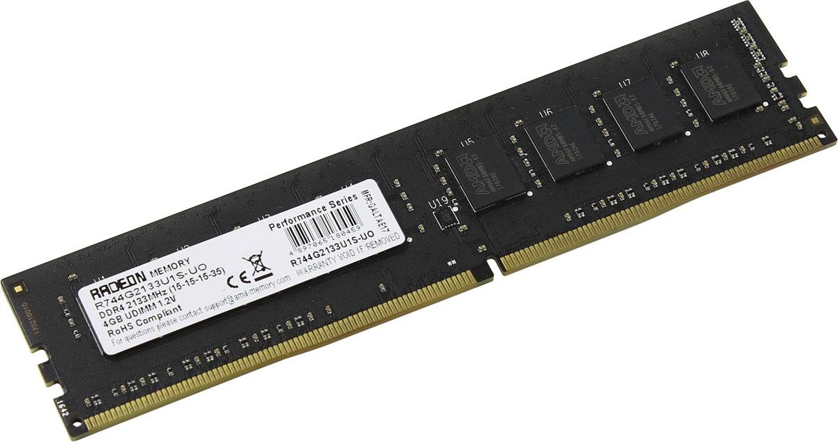 Модуль оперативной памяти AMD Radeon R7 DDR4 4GB 2133MHz (R744G2133U1S-UO)