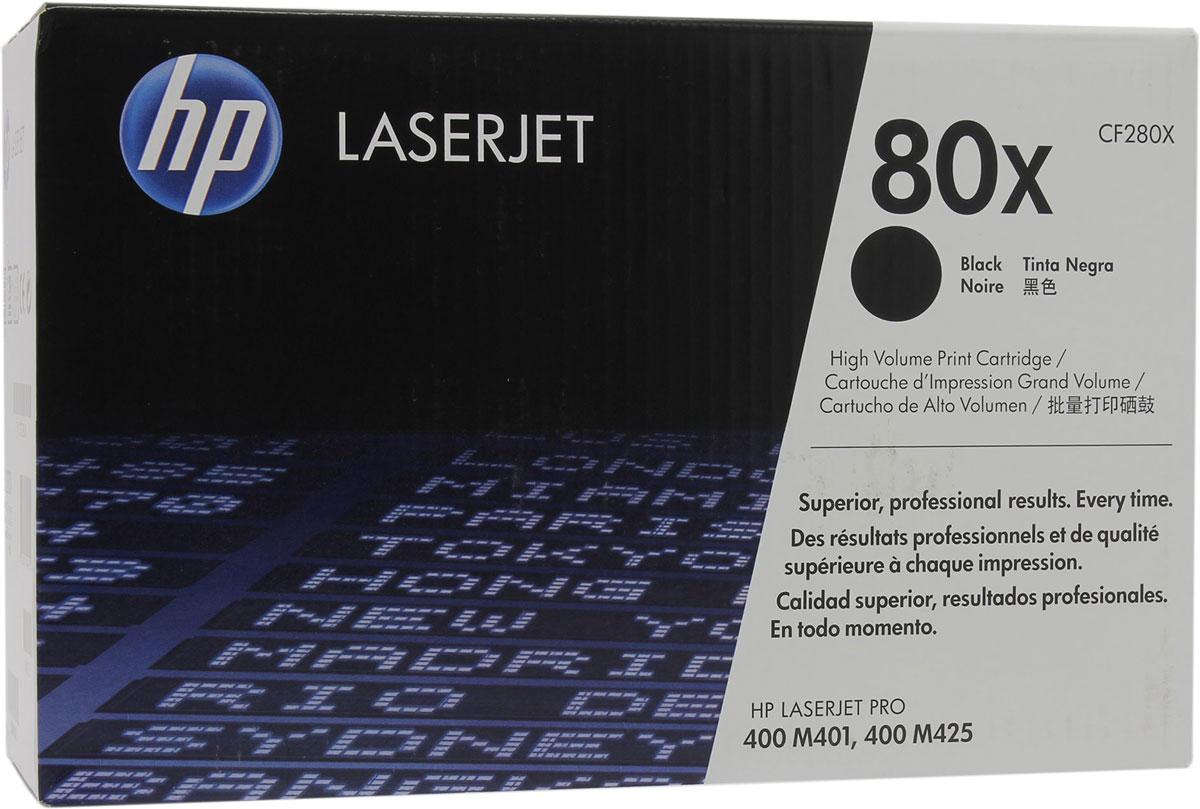 Картридж HP CF280X 80X, черный, для лазерного принтера, оригинал