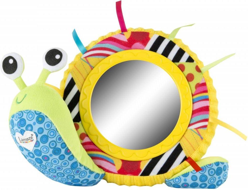 Lamaze Развивающая игрушка Улитка Мишель с зеркальцем развивающие игрушки lamaze дракончик флип флап