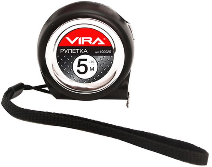 Рулетка Vira, с нейлоновым покрытием ленты, 5 м х 19 мм. 100025