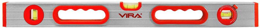 Уровень Vira, 1000 мм, 2 глазка + 1 поворотный. 100112