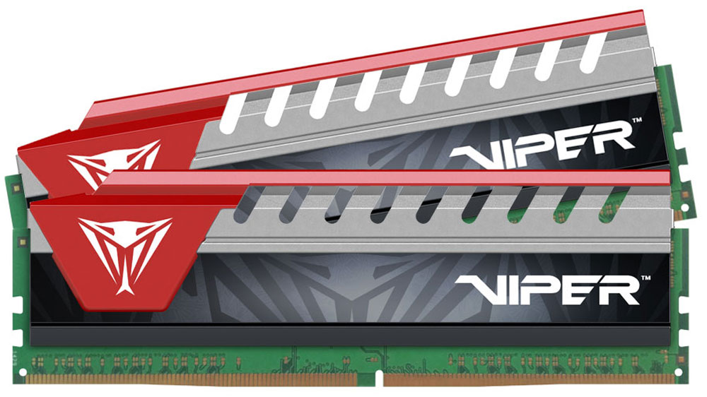 Комплект модулей оперативной памяти Patriot Viper Elite DDR4 2x8Gb 2800 МГц, Red  (PVE416G280C6KRD)
