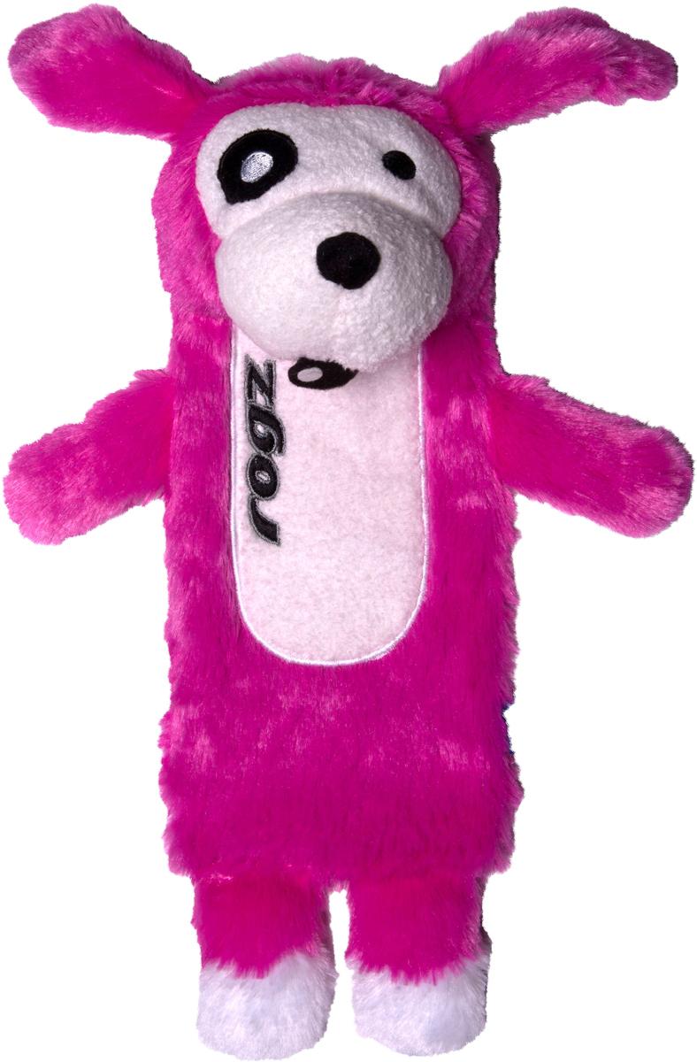 Игрушка для собак Rogz Thinz. Собака, цвет: розовый, длина 33 см