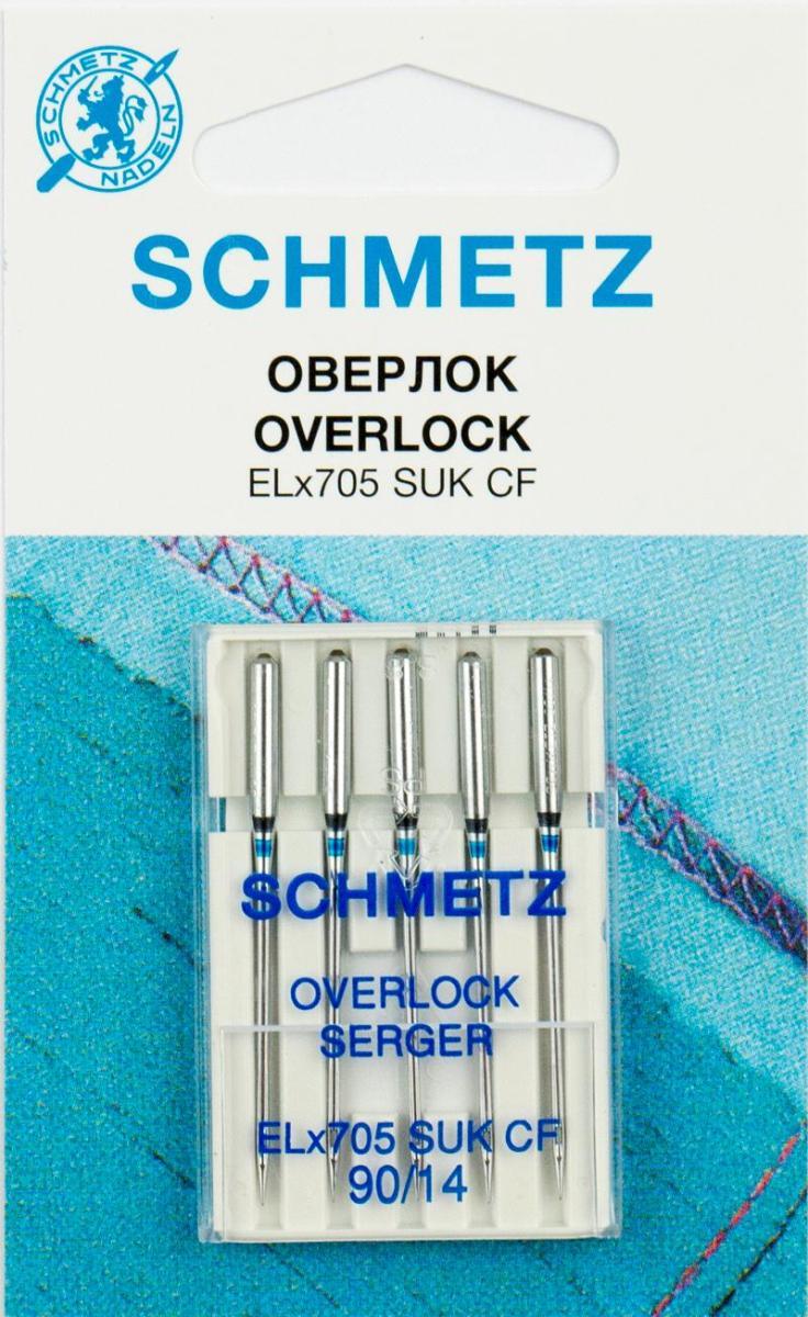 Иглы Schmetz, для оверлока SUK CF ELx705, №90, 5 шт