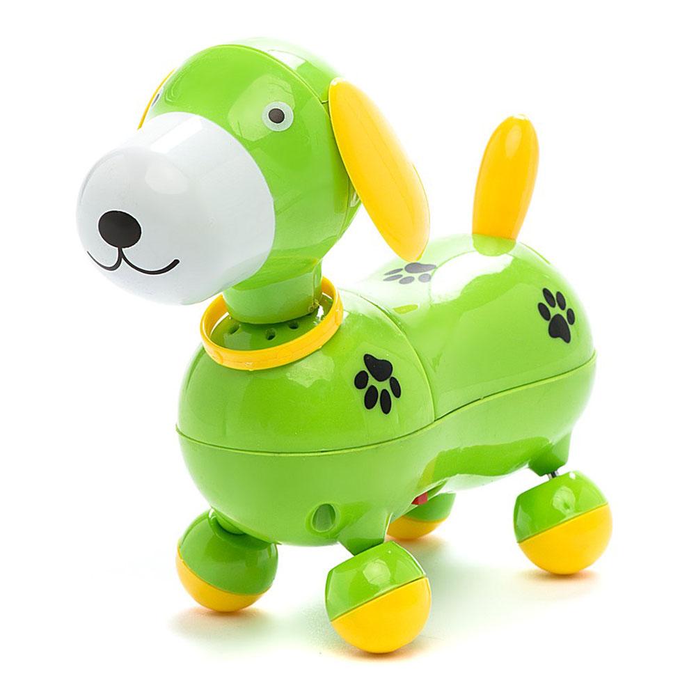 Mommy Love Электронная развивающая игрушка Веселый щенок цвет зеленый